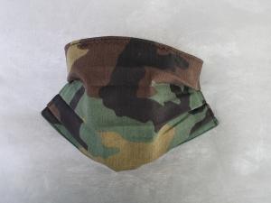 Behelfs-Mundschutz Maske Baumwolle waschbar genäht Nasenbügel Gummischlaufen *Camouflage IIIIV*
