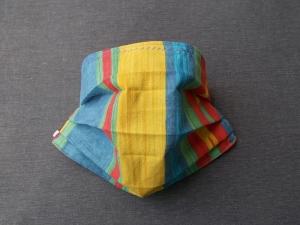 Behelfs-Mundschutz Maske Baumwolle waschbar genäht Nasenbügel Gummischlaufen *True Color II*