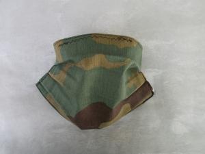 Behelfs-Mundschutz Maske Baumwolle waschbar genäht Nasenbügel Gummischlaufen *Camouflage X*