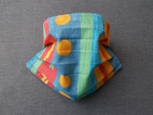 Behelfs-Mundschutz Maske Baumwolle waschbar genäht Nasenbügel Gummischlaufen *True Color III*