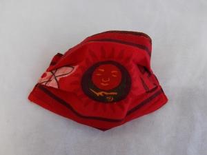 Behelfs-Mundschutz Maske Baumwolle waschbar genäht Nasenbügel Gummischlaufen *Ethno VI*
