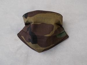 Behelfs-Mundschutz Maske Baumwolle waschbar genäht Nasenbügel Gummischlaufen *Camouflage XI*