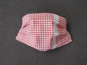 Behelfs-Mundschutz Maske Baumwolle waschbar genäht Nasenbügel Gummischlaufen *Alpen-Style 2.0*  - Handarbeit kaufen