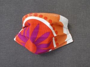 Behelfs-Mundschutz Maske Baumwolle waschbar genäht Nasenbügel Gummischlaufen *Flower Power XII*
