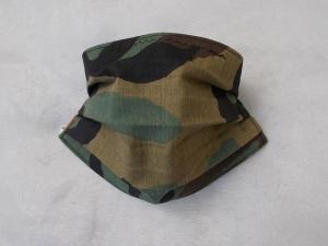 Behelfs-Mundschutz Maske Baumwolle waschbar genäht Nasenbügel Gummischlaufen *Camouflage XII*