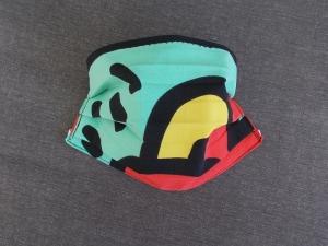 Behelfs-Mundschutz Maske Baumwolle waschbar genäht Nasenbügel Gummischlaufen *PopArt X*