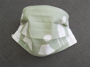 Behelfs-Mundschutz Maske Baumwolle waschbar genäht Nasenbügel Gummischlaufen *Pastell Human*