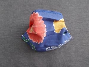 Behelfs-Mundschutz Maske Baumwolle waschbar genäht Nasenbügel Gummischlaufen *Summer-Brise*