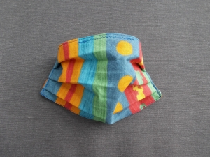 Behelfs-Mundschutz Maske Baumwolle waschbar genäht Nasenbügel Gummischlaufen *True Color IV*  - Handarbeit kaufen
