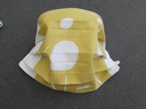 Behelfs-Mundschutz Maske Baumwolle waschbar genäht Nasenbügel Gummischlaufen *Pastell Human II*