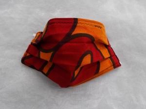 Behelfs-Mundschutz Maske Baumwolle waschbar genäht Nasenbügel Gummischlaufen *Africa V*