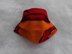 Behelfs-Mundschutz Maske Baumwolle waschbar genäht Nasenbügel Gummischlaufen *Africa VI*