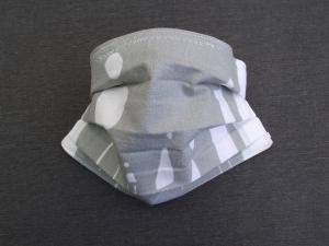 Behelfs-Mundschutz Maske Baumwolle waschbar genäht Nasenbügel Gummischlaufen *Pastell Human III*