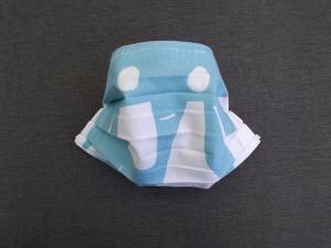Behelfs-Mundschutz Maske Baumwolle waschbar genäht Nasenbügel Gummischlaufen *Pastell Human V*