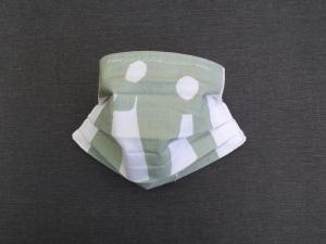 Behelfs-Mundschutz Maske Baumwolle waschbar genäht Nasenbügel Gummischlaufen *Pastell Human IV* - Handarbeit kaufen