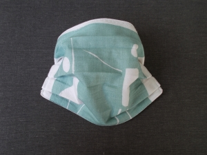 Behelfs-Mundschutz Maske Baumwolle waschbar genäht Nasenbügel Gummischlaufen *Pastell Human VI*