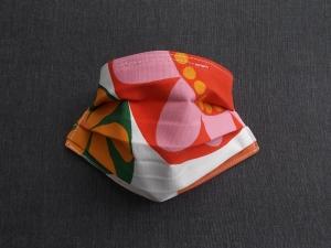 Behelfs-Mundschutz Maske Baumwolle waschbar genäht Nasenbügel Gummischlaufen *Flower Power XVI*