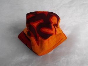 Behelfs-Mundschutz Maske Baumwolle waschbar genäht Nasenbügel Gummischlaufen *Africa VIII*  - Handarbeit kaufen