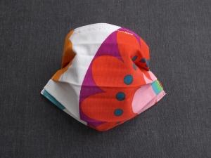 Behelfs-Mundschutz Maske Baumwolle waschbar genäht Nasenbügel Gummischlaufen *Flower Power XVII*  - Handarbeit kaufen