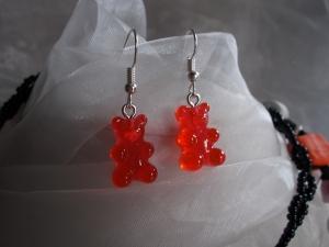 *COLORADO* ♥ Ohrhänger aus handgefertigten Resin/ Epoxidharz Perlen in Form von Gummibärchen rot - Handarbeit kaufen