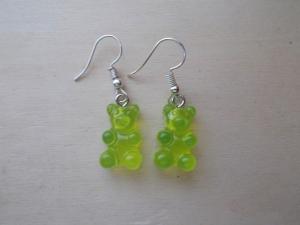 *COLORADO* ♥ Ohrhänger aus handgefertigten Resin/ Epoxidharz Perlen in Form von Gummibärchen gelb/grün - Handarbeit kaufen
