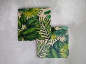 Untersetzer Fliese ♥  *Dschungel* 2 Stück im Set - Handarbeit kaufen