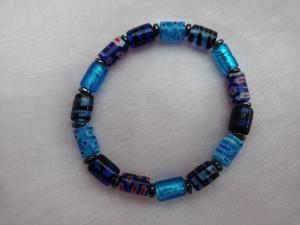 Glasperlenarmband Glasperlen Armband ♥ *Deep Blue* blau türkis - Handarbeit kaufen