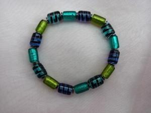 Glasperlenarmband Glasperlen Armband ♥ *Urwald* grün blau - Handarbeit kaufen