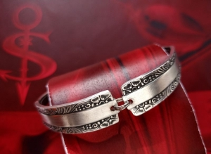 Besteckschmuck Armband Armreif mit Magnet ♥ Greek Style - Handarbeit kaufen