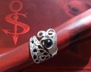 Besteckschmuck Ring ♥ Romantique Ring  aus einer Bowlengabel Größe 59/60 - Handarbeit kaufen
