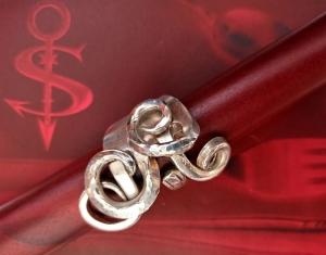 Besteckschmuck Ring ♥ Ring  aus einer Gabel Größe 59