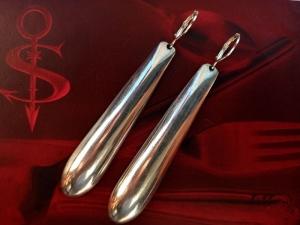 Besteckschmuck Ohrring Ohrschmuck ♥   Ohrhänger *XX-Long*  - Handarbeit kaufen
