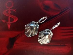 Besteckschmuck Ohrring Ohrschmuck ♥   Ohrhänger *Little Seashell*   - Handarbeit kaufen