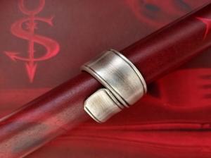 Besteckschmuck Ring ♥  *Massive* Ring  aus einem Löffel Größe 59 Stielende - Handarbeit kaufen