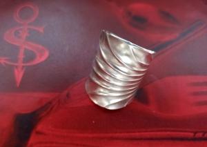 Besteckschmuck Ring ♥  *Ocean* Ring  aus einem Zuckerlöffel Größe 61/62 - Handarbeit kaufen