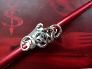 Besteckschmuck Ring ♥ Ring aus einer Dessertgabel Größe 50 - Handarbeit kaufen