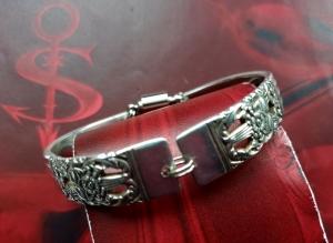 Besteckschmuck Armband Armreif mit Magnet ♥ HAMPTON COURT - Handarbeit kaufen