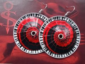 Ohrhänger ♥ Lamelle rot schwarz Öse Nespresso - Kapsel Schmuck upcycling  - Handarbeit kaufen