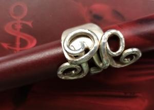 Besteckschmuck Ring ♥ Ring aus einer Dessertgabel Größe 58