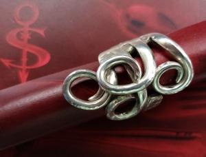 Besteckschmuck Ring ♥ Ring aus einer Dessertgabel Größe 57/58  - Handarbeit kaufen