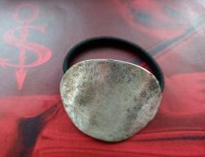 Besteckschmuck Haargummi ♥ Haargummi *Hammerschlag Spezial*aus einem Kaffeelöffel  - Handarbeit kaufen