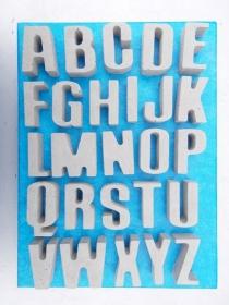 10 Buchstaben ★★★ ABC Buchstaben Beton Betonbuchstaben Wörter Schriftzug - Handarbeit kaufen
