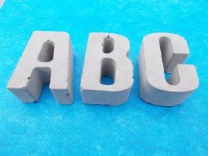 ★★★ ABC komplett ★★★ 26 Buchstaben Beton Betonbuchstaben Wörter Schriftzug - Handarbeit kaufen