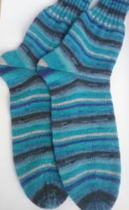 Gr. 46/47: Kuschelige Socken von Hand gestrickt aus Regia-Wolle bestellen (Kopie id: 46472)