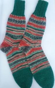 Gr. 38/39: Farbenfrohe handgestrickte Socken kaufen (Kopie id: 47237)