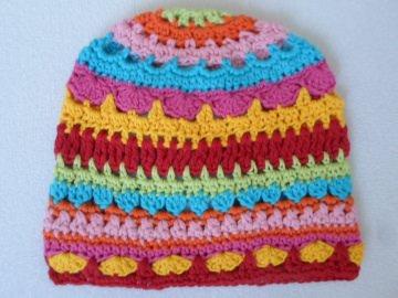 Kunterbunte Kindermütze Kopfumfang bis 45 cm - Handarbeit kaufen