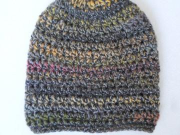 Mütze grau/bunt  - Handarbeit kaufen