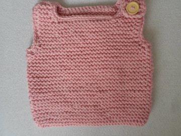 Gr.62/68 Babypullunder in rosa aus reiner Merinowolle - Handarbeit kaufen