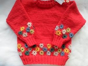 Gr.86/92 Pullover  - Handarbeit kaufen