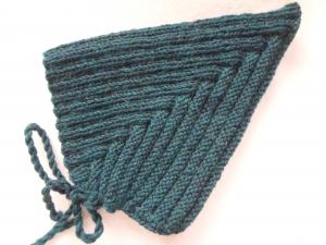Zwergenmütze für Kinder in petrolmelange bis Kopfumfang 45 cm aus reiner Wolle handgestrickt - Handarbeit kaufen